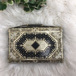 Leather clutch made in Italy